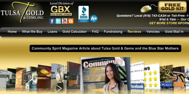 website reviews-tulsa gold and gems-tulsa-ok-website design-blog