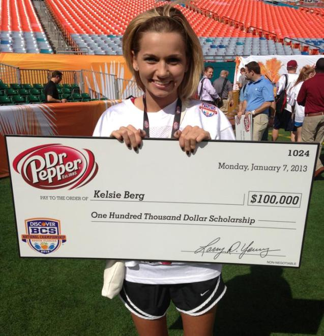 Kelsie-Berg-Winner of Dr. Pepper Tuition Challenge M3 New Media Tulsa OK